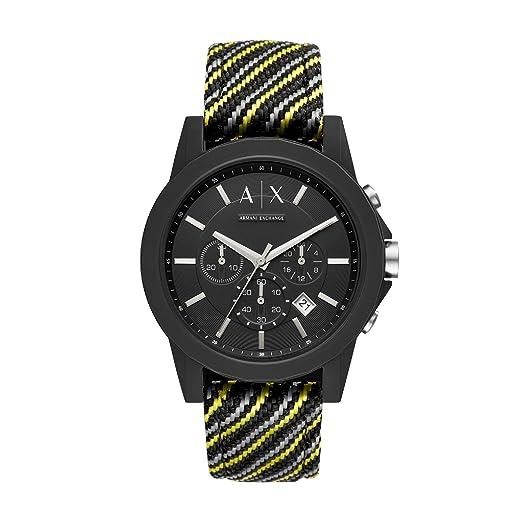 f05bf0dbf34e Armani Exchange Reloj Cronógrafo para Hombre de Cuarzo con Correa en Nailon  AX1334  Amazon.es  Relojes