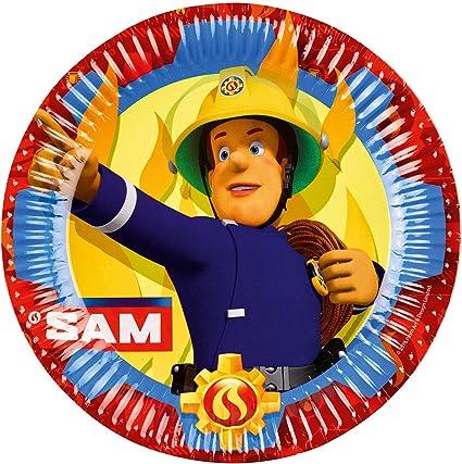 Amazon.com: Amscan – Fireman Sam Platos de papel Fiesta x 8 ...