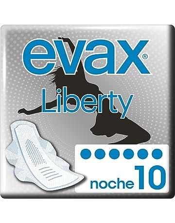 Evax Liberty Noche con Alas, 9 Compresas con una Technología Revolucionaria, Comfort & Absorción