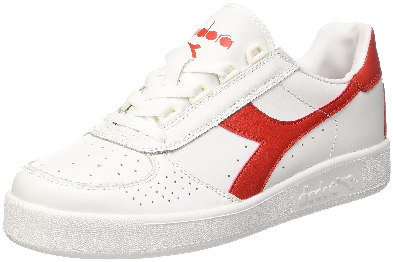 Diadora B. Elite, Sneaker Unisex – Adulto Bianco (Bianco/Rosso Ferrari Italia)