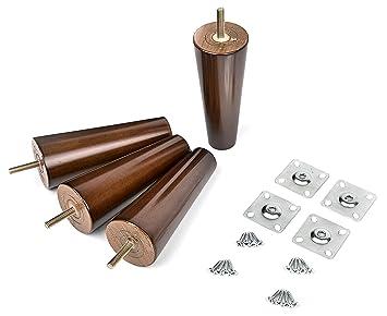 6 Solid Wood Furniture Legs 100 Oak Set Of 4 Mid Century