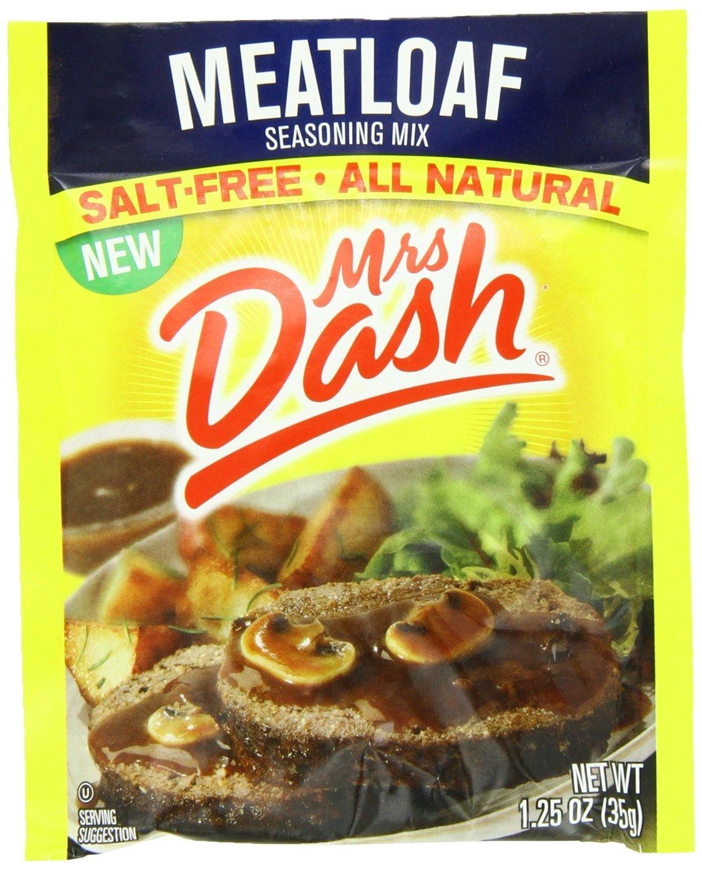 Mrs Dash Salt-Free Meatloaf Seasoning Mix (Pack of 4) 1.25 oz Packets