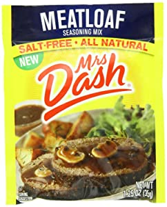 Mrs Dash Salt-Free Meatloaf Seasoning Mix (Pack of 4) 1.25 oz Packets
