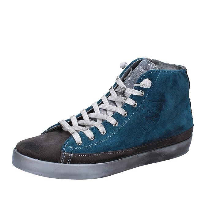 BEVERLY HILLS POLO CLUB Sneakers Mujer Gamuza Azul: Amazon.es ...