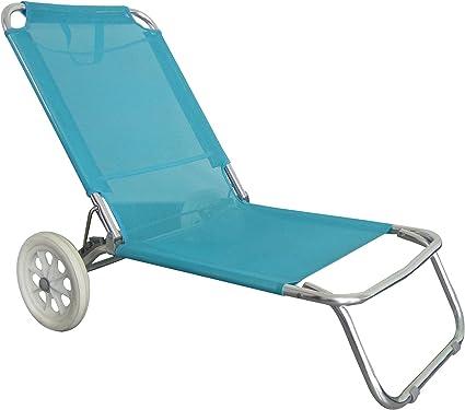O Beach Chaise De Plage Avec Roulettes Structure Pliable Et Confortable Amazon Fr Sports Et Loisirs