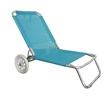e82331e3f0f O Beach Beach Chair with Wheels and Canopy Blue  Amazon.co.uk  Sports    Outdoors