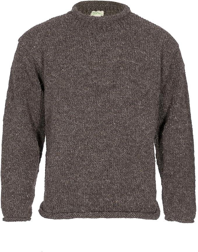 Maglione lavorato a maglia in 100/% lana di yak con collo rotondo
