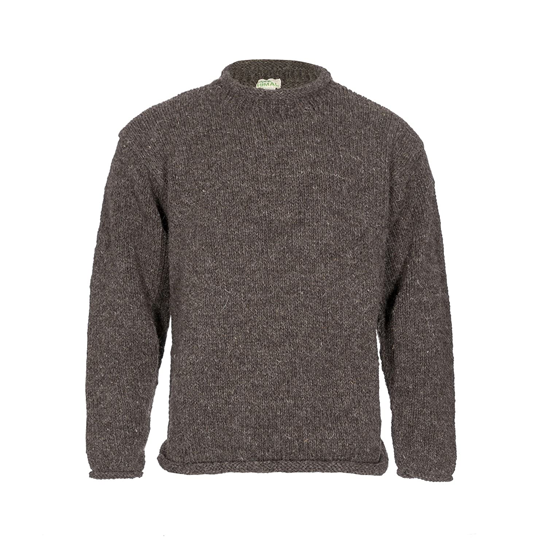 Himal Yak Wool Roll-Neck Jumper, 100% Tibetan Yak Wool, Thick Warm Turtleneck Sweater