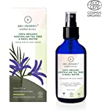 Juicy Chemistry 100% Organic Australian Tea Tree & Basil Water Facial Toning Mist Spray for Anti Ageing and Makeup Removal (110 Ml)