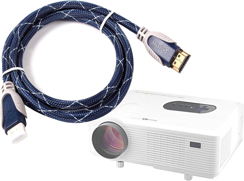DURAGADGET Cable HDMI De Audio Y Vídeo para Proyector DBPOWER GP15 ...