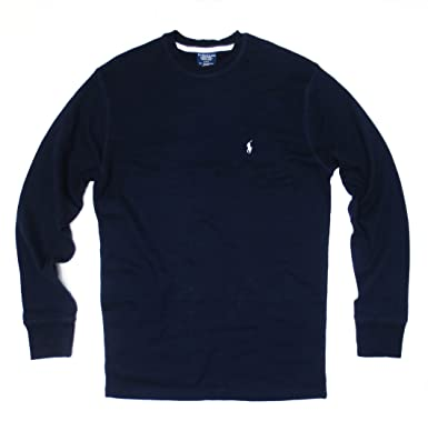 4dd875d713 Image Unavailable. Image not available for. Color  Polo Ralph Lauren  Sleepwear Mens Long Sleeve Thermal T-shirt ...