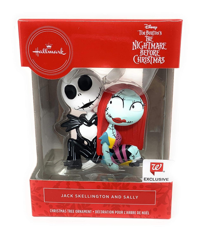 Disney Hallmark Nightmare Before Christmas Jack Skellington And Sally Ornaments