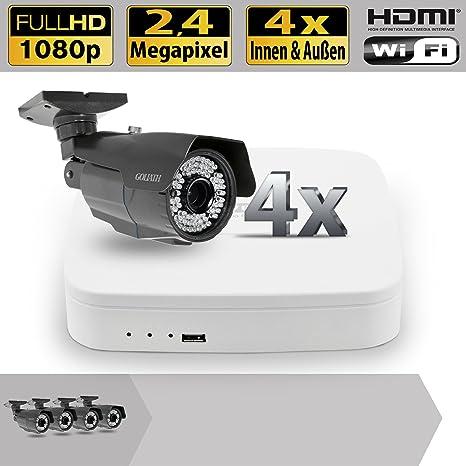 Vídeo de vigilancia Set 4 canal HDCVI DVR 4 al aire libre Cámaras de vigilancia 2.4