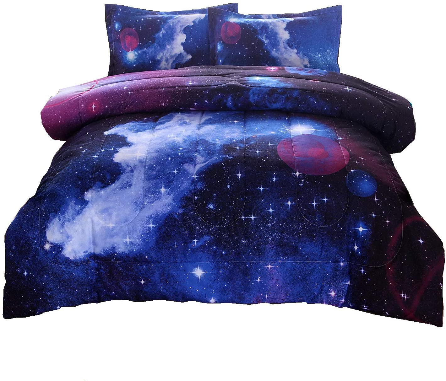 A Nice Night Galaxy Bedding Set for Children