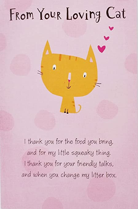 Amazon from your loving cat happy mothers day greeting card from your loving cat happy mothers day greeting card quoti thank you m4hsunfo