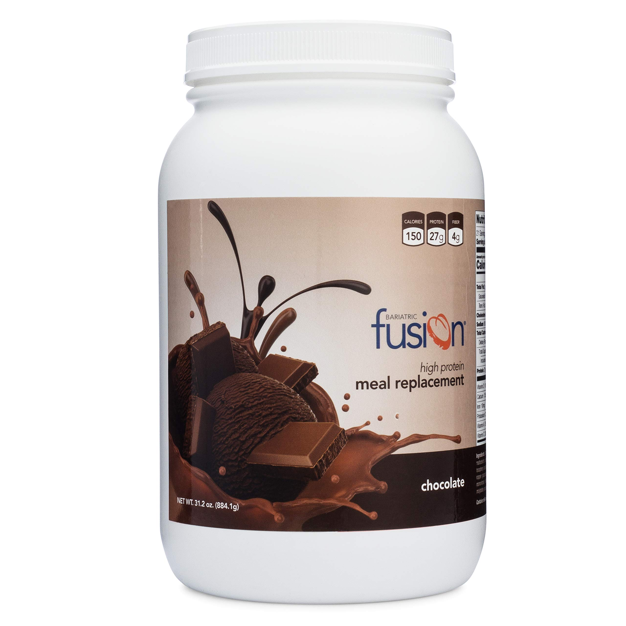 Bariatric Fusion Chocolate Meal Replacement Protein 21 Serving Tub for Bariatric Surgery Patients Including Gastric Bypass & Sleeve Gastrectomy by Bariatric Fusion