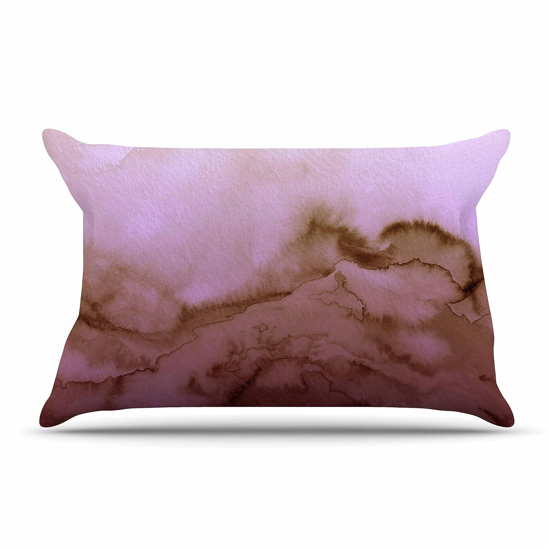 Kess InHouse EBI Emporium Winter Waves 8 Pink Tan 30 x 20 Pillow Sham