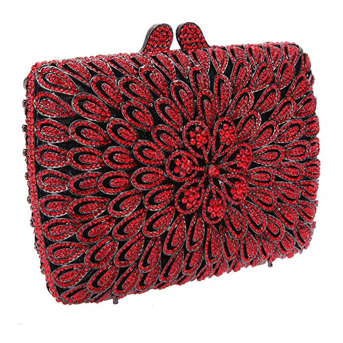 Bonjanvye Studded Shining Bags for Girls Wedding and Party Evening Clutches Bag AB Green: Amazon.es: Equipaje