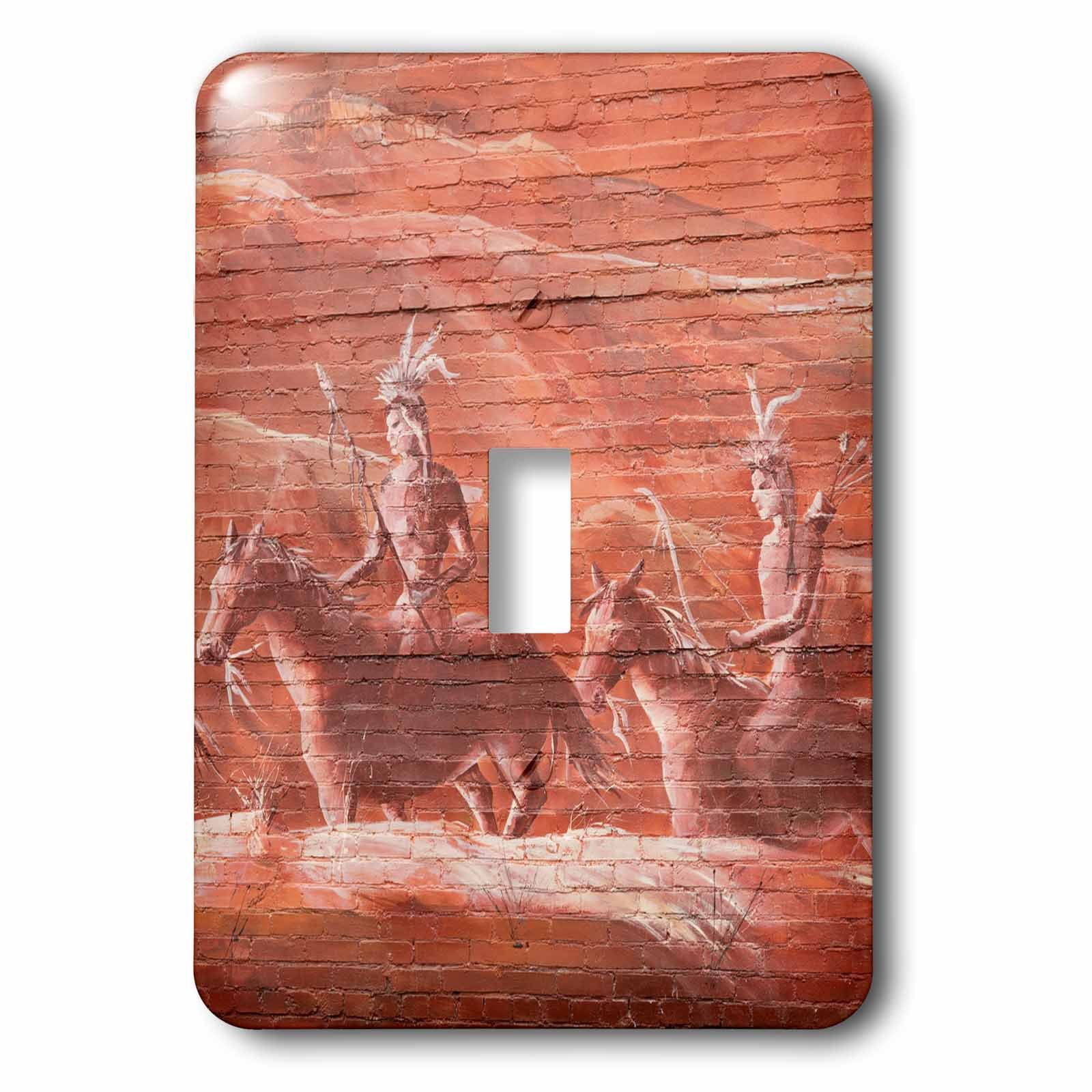 3dRose LSP_230401_1 USA, Colorado, Delta. Native-American Scene decorates Brick Wall Toggle Switch, by 3dRose