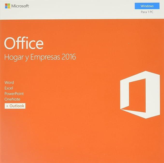 Microsoft Office Hogar y Empresas 2016: Amazon.com.mx: Software