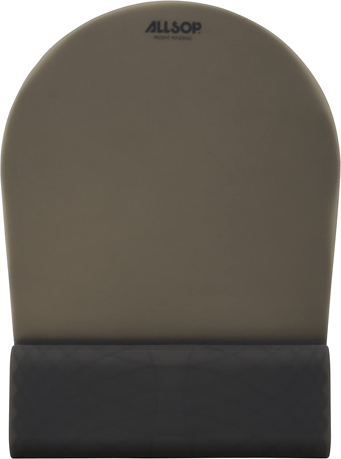 31879 Black Allsop ErgoFlex Mouse Pad with Silicone Grid Wrist Support