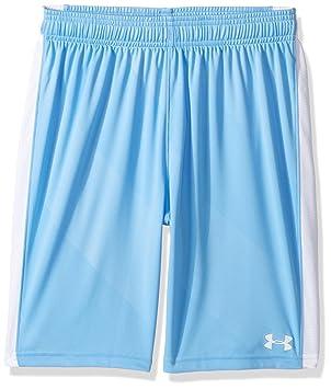 e0e408b9 Under Armour Boys' Re-Fixture Soccer Shorts, Carolina Blue/White ...