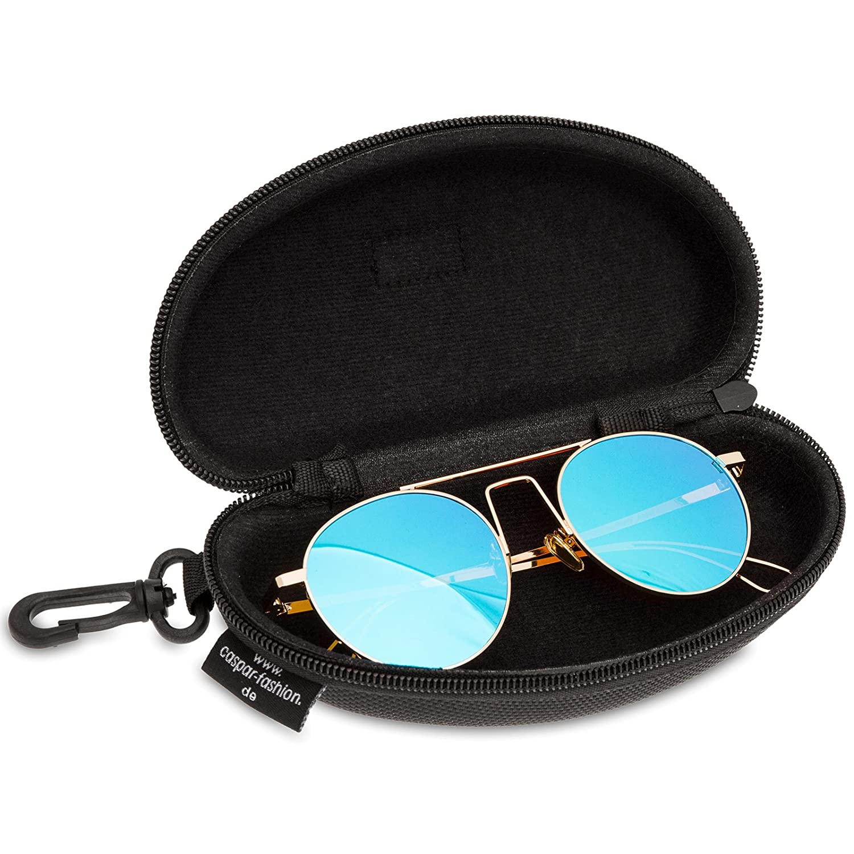 Case Included CASPAR SG041 Women Retro Coloured Sunglasses Pilot Style Lenses