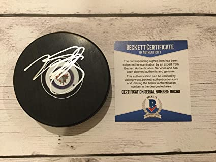 97da08ed1d9 Autographed NHL Pucks Fanatics Authentic Certified Dustin Byfuglien  Winnipeg Jets Autographed Hockey Puck