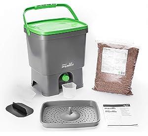 Bokashi Organico Juego - innovadora bio Cubo de basura para basura de cocina y Compost