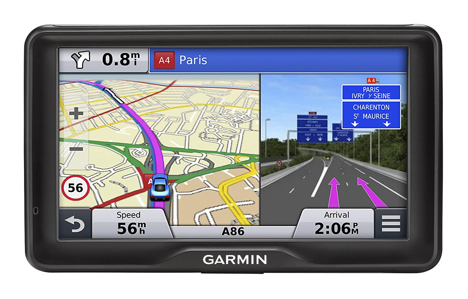 Garmin Nuvi 2497LM 4.3 inch Satellite Navigation with UK and Full Europe Maps, Free Lifetime Map Updates and Bluetooth 010-01124-31 010-01124-31_Nero