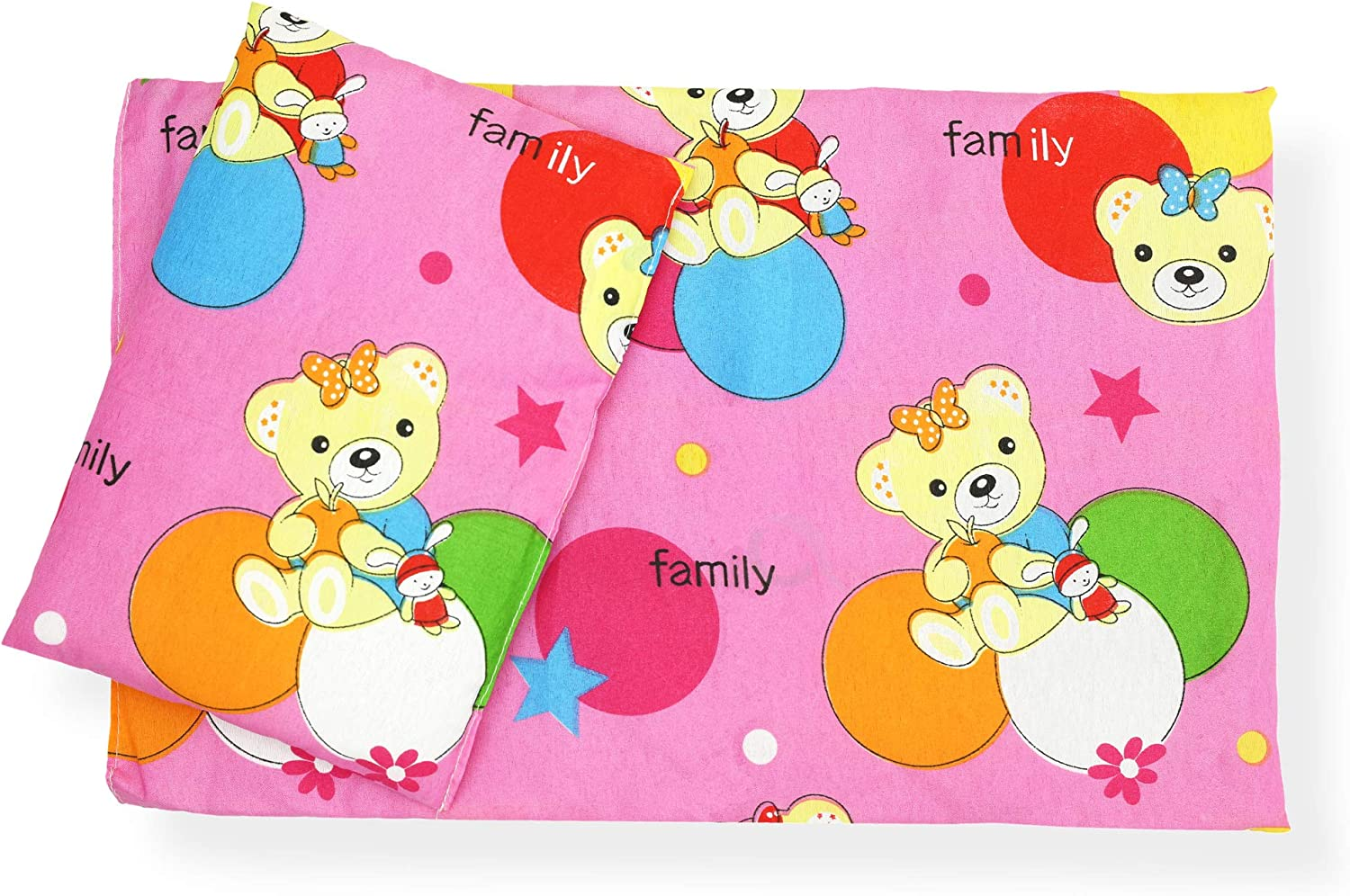 CuddlyZOO Dolls Teddy Quilt //Duvet Pillow Bedding Set Fits Up to 46cm 18 Doll Pram //Cot APACHE Teepee