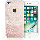 iPhone 7 Case, iPhone 8 Case by Yousave Accessories [Slim & Lightweight] White Mandala Pattern [Soft Flexible] TPU Gel Protective Cover – Exact Fit for iPhone 7 (2016) & iPhone 8 (2017)