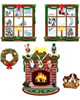 """Beistle 20213 Printed Indoor Christmas Décor Props, 15"""" to 49"""", 5 Pieces In Package"""