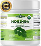 Organic Moringa Powder | Supercharge Your Smoothies with Natures Most Potent Superfood | Rich in Vitamin C, E and A, Calcium, Magnesium, Iron, Protein | Boost Energy, Metabolism and Immunity