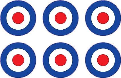 6 x 2,54 cm Raf patinete diseño de motivos de The Who para ...