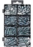 126 Pieces Machine Bolts Screws and Nuts Assortment Kit, Phillips or Slotted Pan Head.