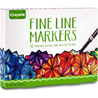 Crayola Fine Line Markers, 40 Count, Assorted Colors, Adult Coloring