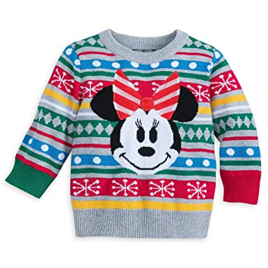 860ec037a Amazon.com  Disney Store Minnie Mouse Holiday Christmas Sweater Baby ...