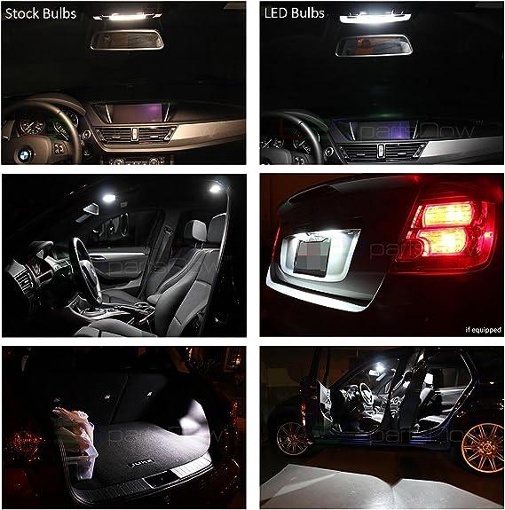 16 x White LED Interior Bulbs Backup Tag Lights For 2008-2018 2019 Highlander