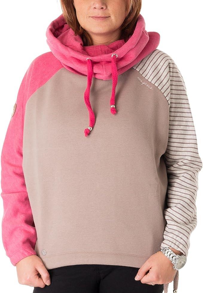 Mazine Tanbar Batwing Hoodie Damen Kapuzenpullover raspberry melange 33616