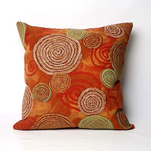 Liora Manne 7S02SA37724 Mystic III Scattered Spiral Warm Indoor/Outdoor Pillow