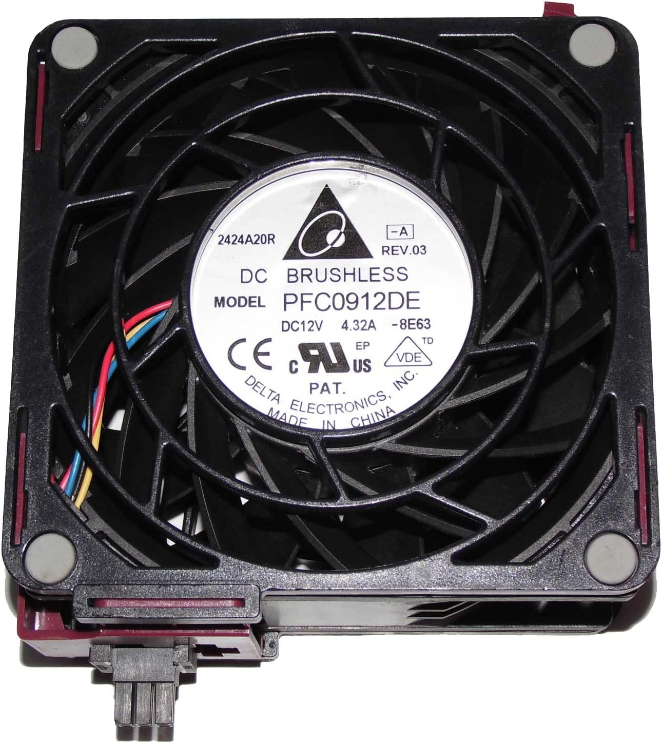 Zyvpee 92x92x38mm PFC0912DE 12V 4.32A P//N:615641-001 492120-002 9cm Server Cooling Fan
