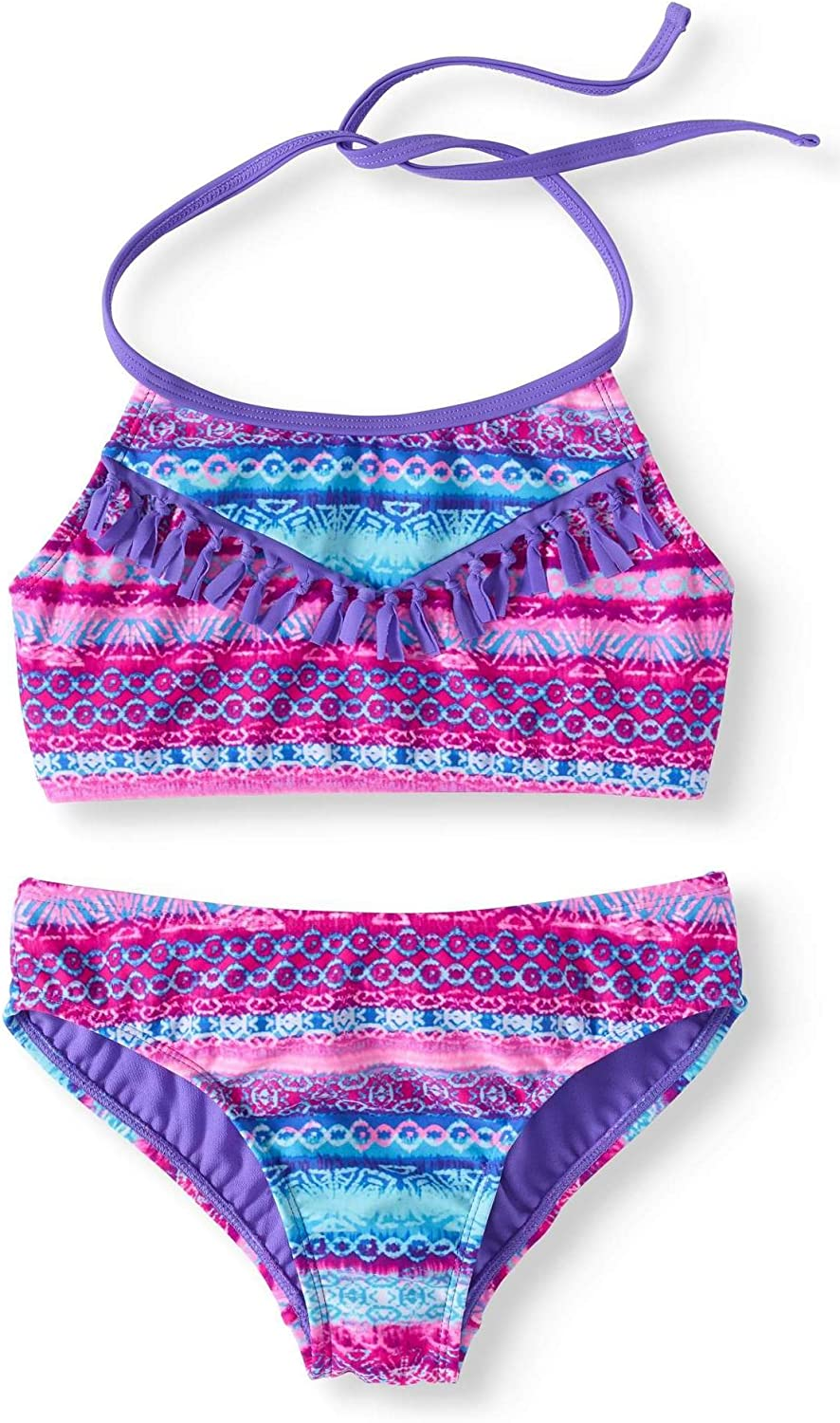 Unomatch Girl Spagetti Straps Printed 2 Piece Swim Set