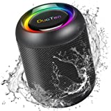 IPX7 Waterproof Shower Speaker DuoTen Bluetooth Wireless Speaker Shower Radio with 10W Loud Sound 1000mAh 15H Playtime LED Di