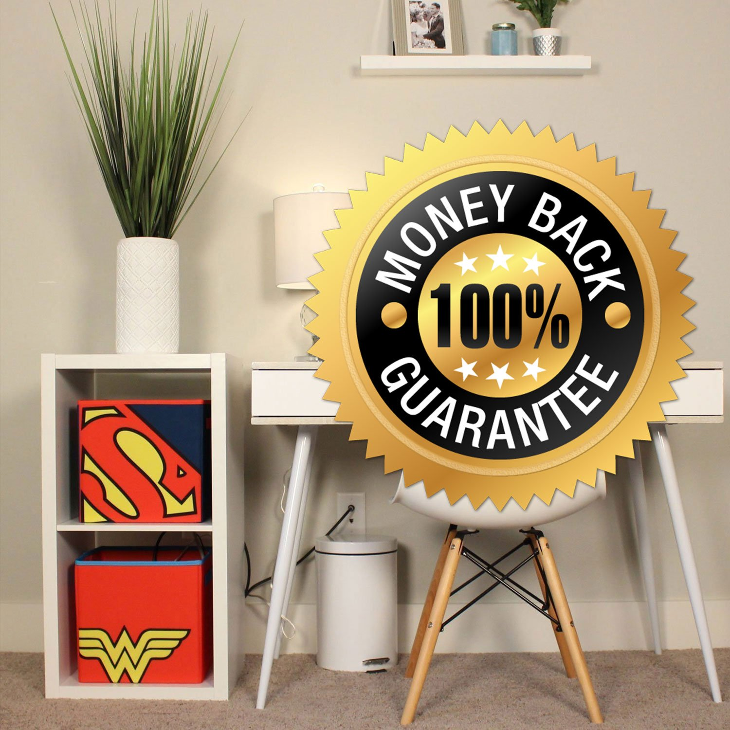 Everything Mary Superman Collapsible Storage Bin by DC Comics - Cube Organizer for Closet, Kids Bedroom Box, Playroom Chest - Foldable Home Decor Basket Container with Strong Handles and Design by Everything Mary (Image #7)