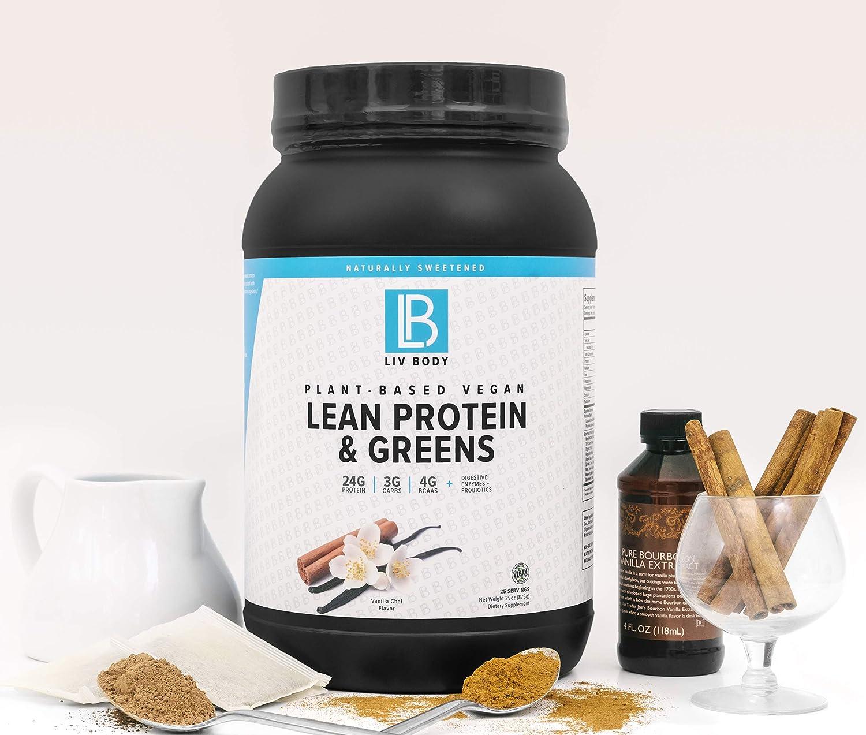Amazon.com: LIV Body | Proteína vegetal vegana magra + ...