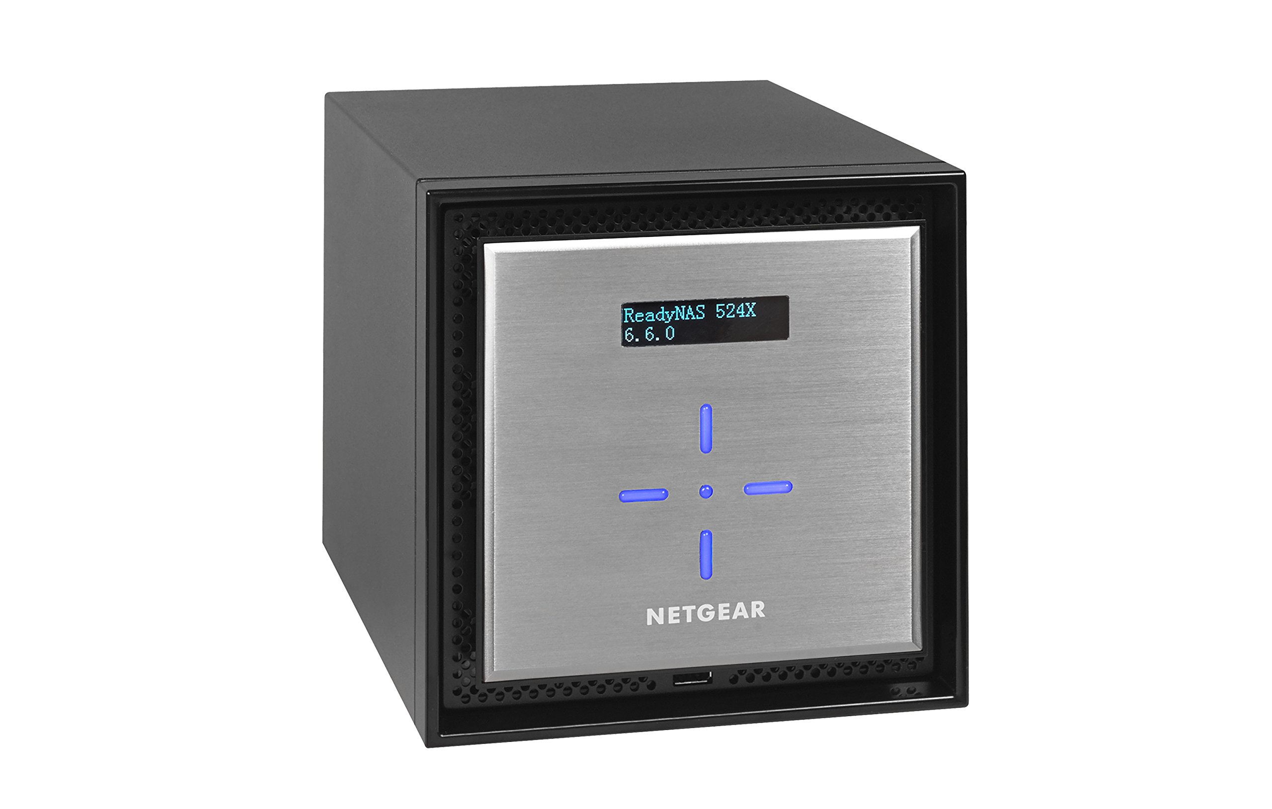 NETGEAR ReadyNAS RN524X00 4 Bay Diskless Premium Performance NAS, 40TB Capacity Network Attached Storage, Intel 2.2GHz Dual Core Processor, 4GB RAM 3 PREMIUM PERFORMANCE - Up to 20 gigabit per second data access, powered by a server processor 10G CONNECTIVITY - Utilize your 10G infrastructure for fast data sharing and backup throughput HIGH-PERFORMANCE - Get 2x faster business application processing with the latest 64-bit technology