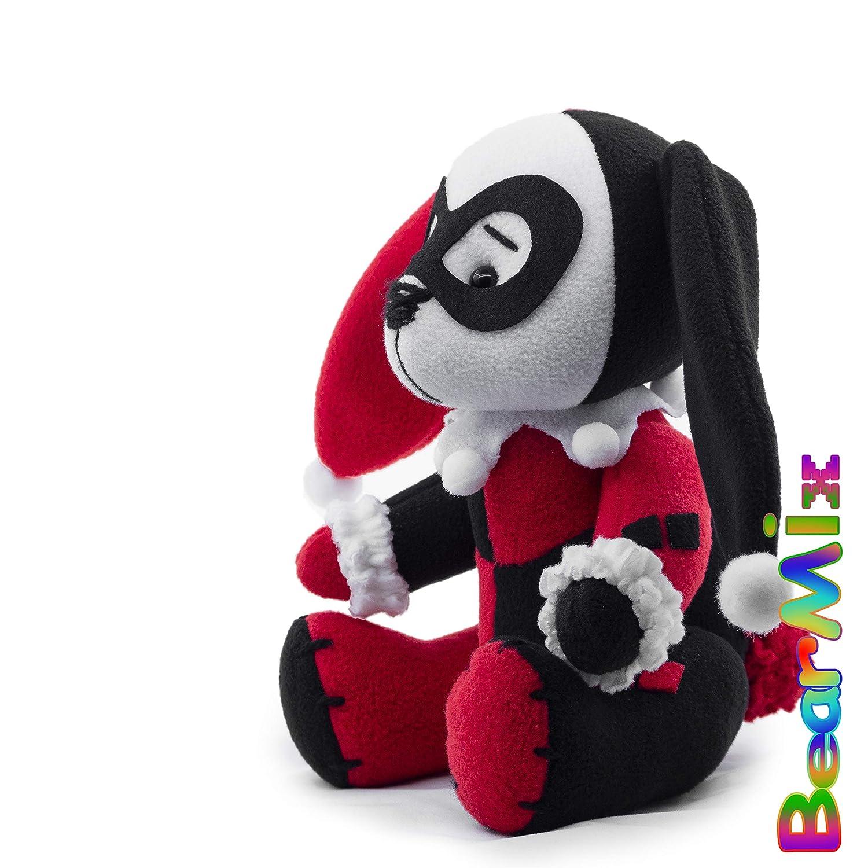 dc anti hero movie comic plush toy Injustice League Batman Harley Quinn bunny