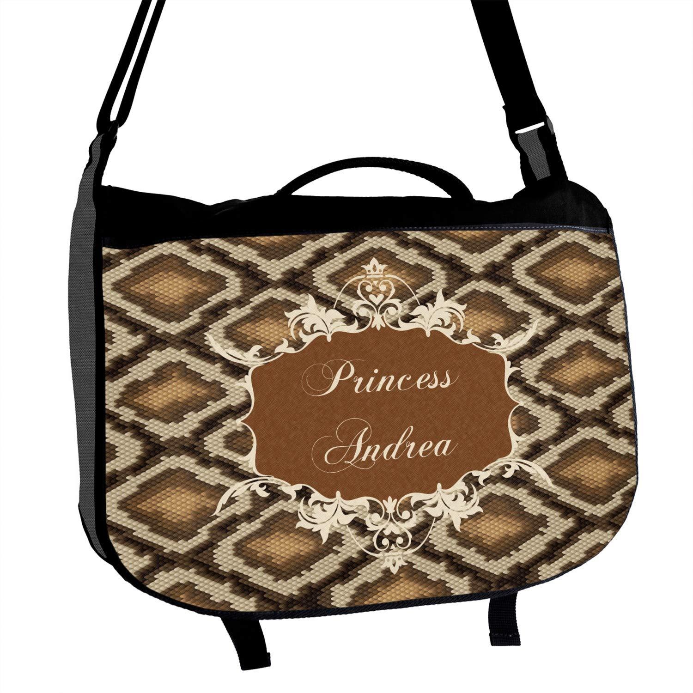 Snake Skin Messenger Bag Personalized