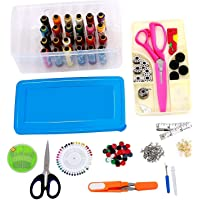 HOME BUY Multipurpose Tailoring Sewing Tool Kit Accessories Supplies Threads Bobbins Needles Trimmers Buttons Hooks Scissors